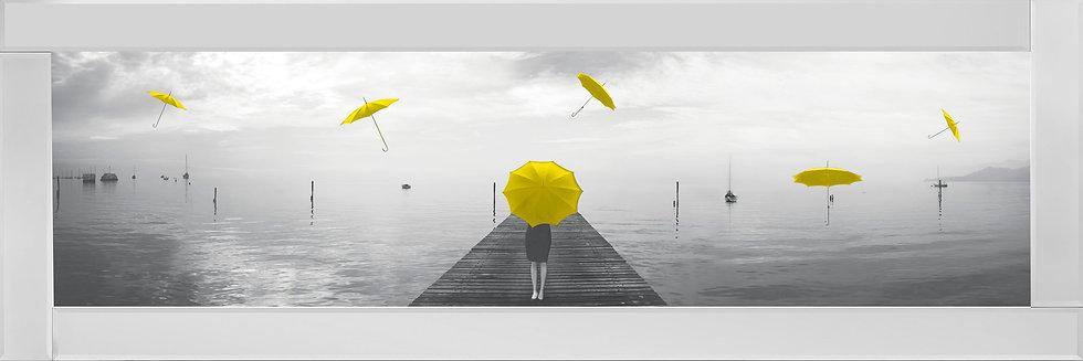Umbrellas On The Pier