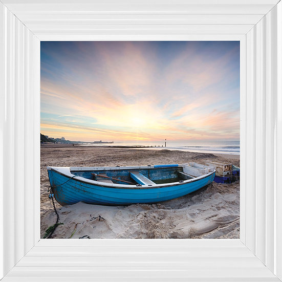 Beached Blue Boat