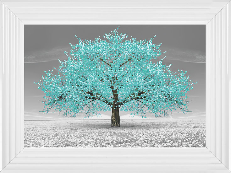 Cherry Blossom Tree Teal