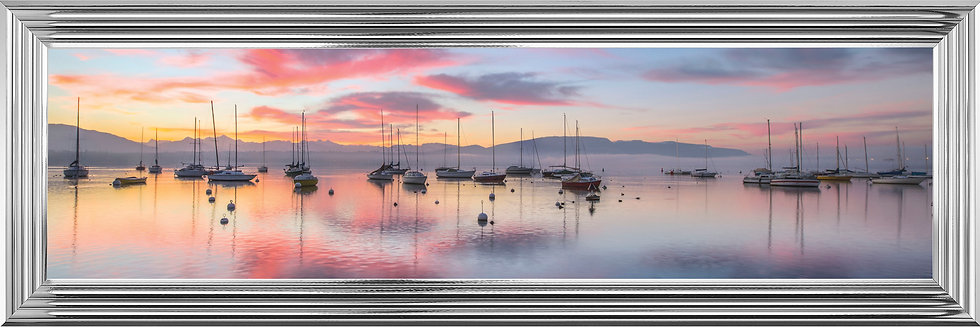 Tranquil Boats in Sunset