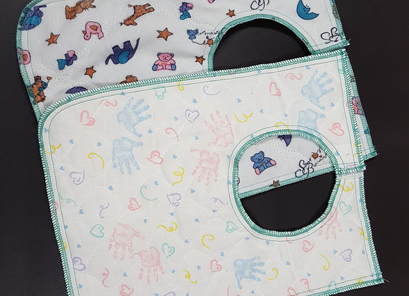 Baby Quilted Dribble Bibs 3/pk