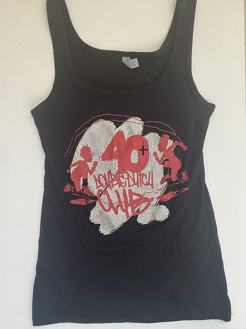 40+ Red or Black Sparkle  Tank