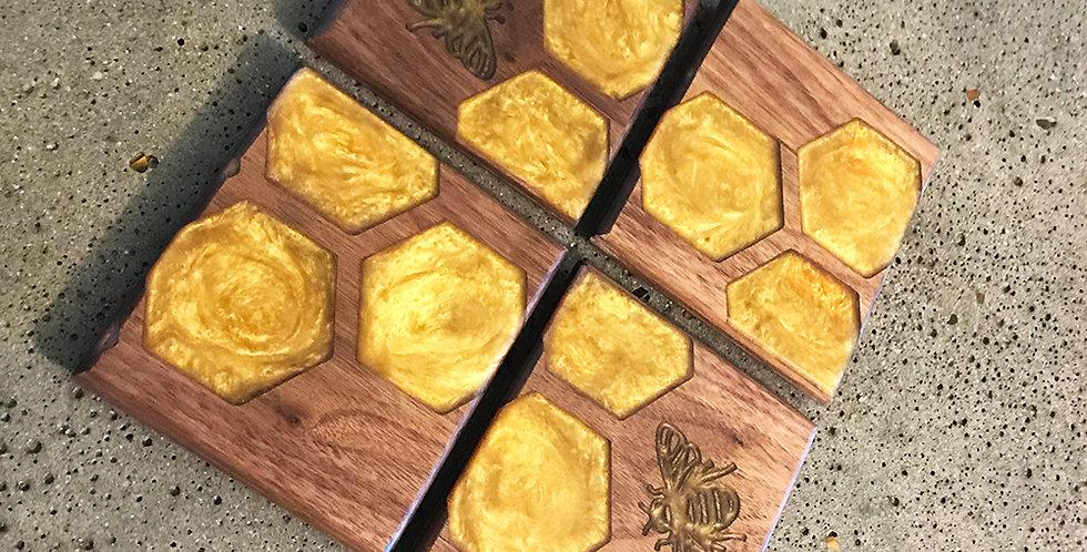 Honeycomb Bee Coasters