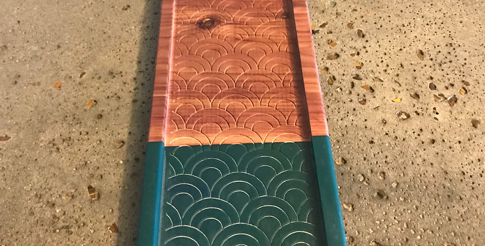 Cedar and Resin Catch-all Tray