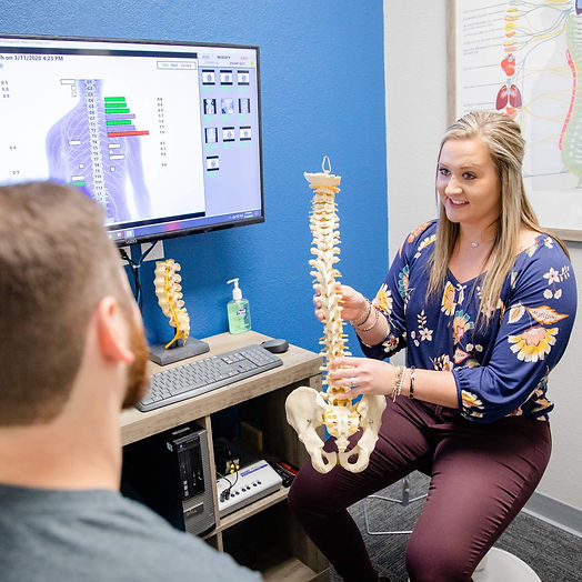 Educating the patient on the importance of the spine and nervous system