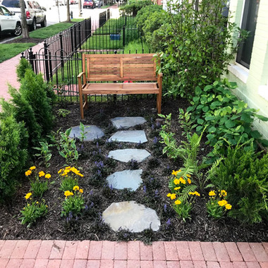 Small oasis garden in Navy Yard