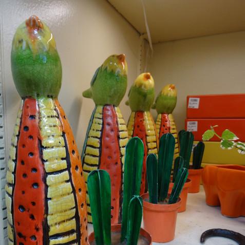 Cacti statues