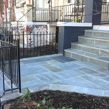 Beautiful cut blug-flag stone entrance