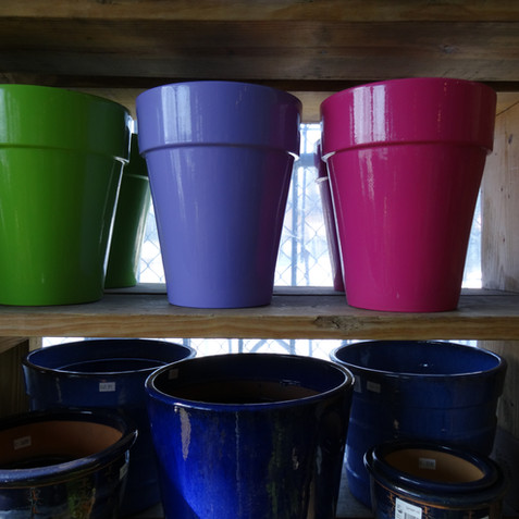 Colorful containers
