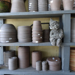 Pots and garden statues