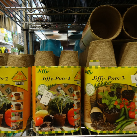 Veggie and seed pots
