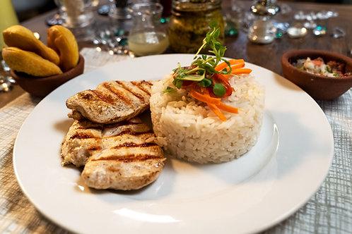 Pollo Grille con Arróz