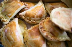 Typical chicken empanadas for stop being