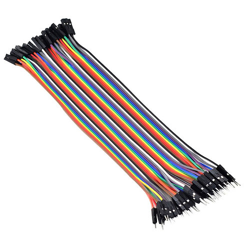 Jumper Wires Ribbon Cables Dupont Wire Connectors -  MALE to FEMALE,40 Pieces
