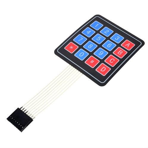 4X4 Keypad - Matrix Membrane Type switch Keypad - 16 Keys