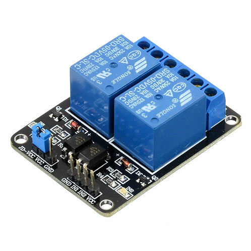 Relay Module - 2 Channel 5V Relay Board 5 Volt - Opto Isolated Input