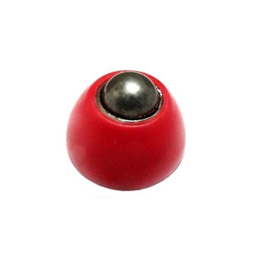 Castor wheel Small - Ball castor Wheel Red Cap - 27.5mm Base diameter