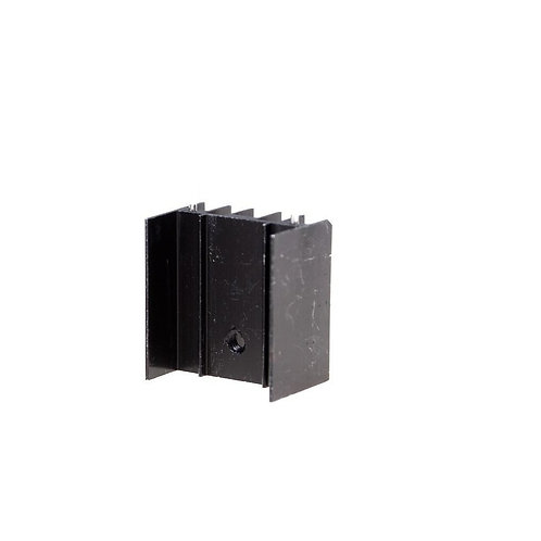 Black Aluminum Heat Sink for TO-220 Transistors
