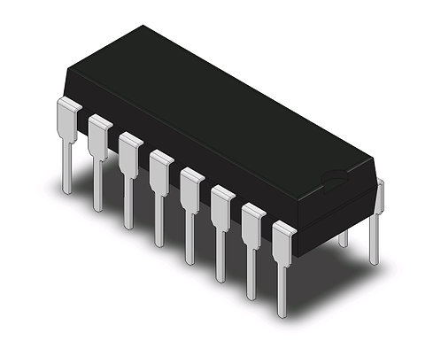 74LS595 - 8-bit serial-in/serial or parallel-out shift register