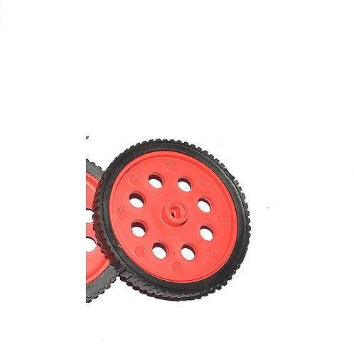 BO Motor Wheel for Robotics - Red 70mm x 10mm