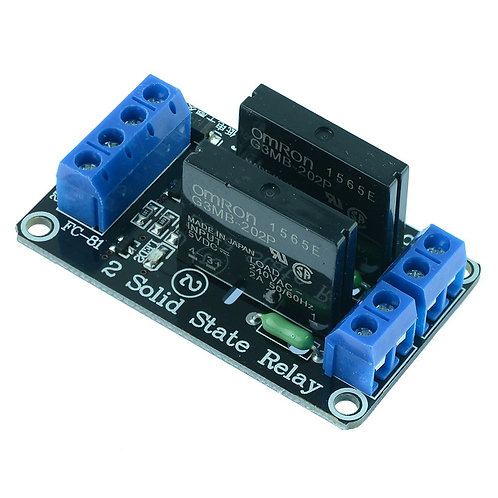 5V 2 Channel SSR- Solid State Relay Module 240V 2A