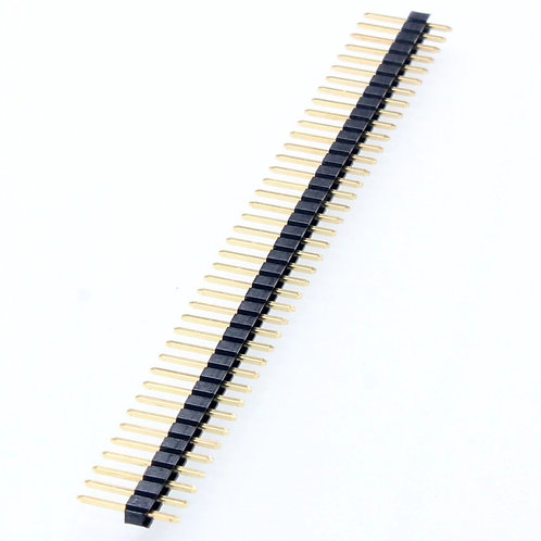 Male header connector pins - 40 pin break-away male Header bergstick strips