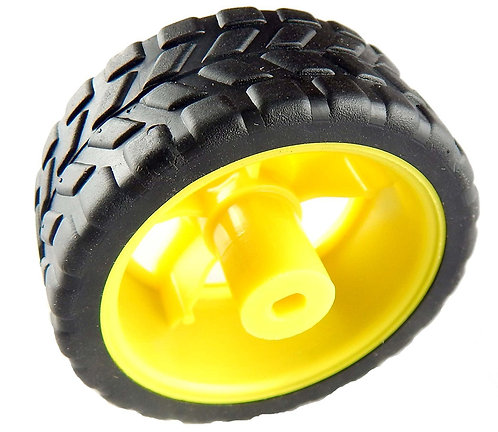 BO Motor wheel - Rubber Wheel for Robotics Vehicle : 65mmX30mm