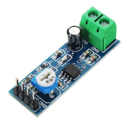 LM386 Based Audio Amplifier Module Sensor 5V-12V Input 10K Resistance- 200X Gain