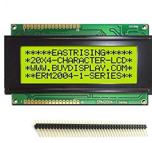 20x4 Character LCD Display Module - Yellow Green Blacklight Male HEADER PIN