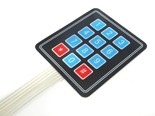 4X3 Keypad - Matrix Membrane Type switch Keypad - 12 Keys