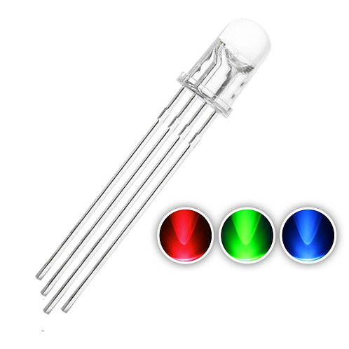 RGB LED 5mm Common Cathode Transparent Clear Flashing Water Color