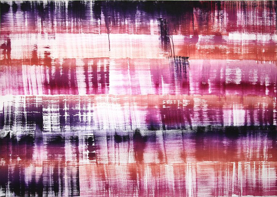 resonanz farbspuren auf leinwand © larissa böhler