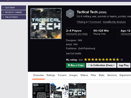 Tactical Tech is on Board Game Geek