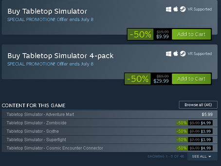 Tabletop Simulator is 50% Off Right Now!