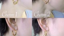 比べてみました(14) フープピアス+チャーム4種