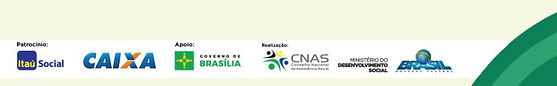 Banner com os logos dos patrocinadores, apoiadores e realizadores da 11ª Conferência de Assistência