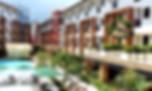 La Carmela Facade overlooking Pool