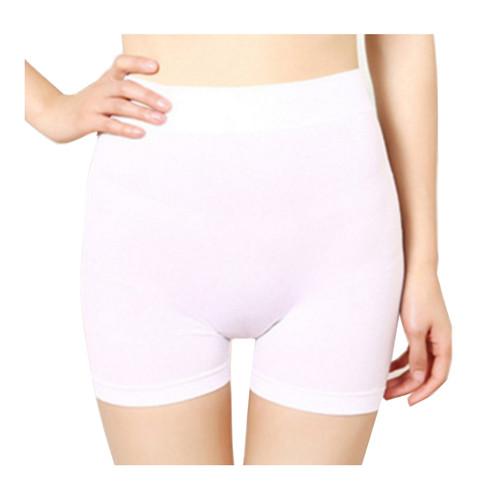 db87bb62398f Women Seamless Plain High Waist Boxer Shorts 2628