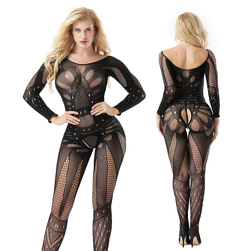 Erotic Floral Fishnet Bodystocking 4512