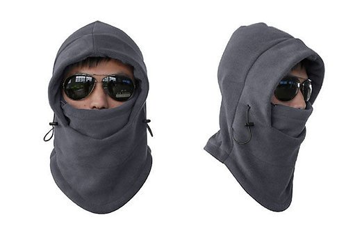 Unisex Fleece Thermal Balaclava Sports Grey