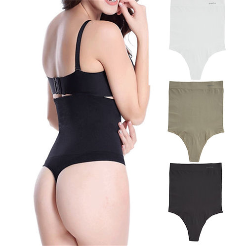 Women High Waist Tummy Control Body Shaper Thong 11011