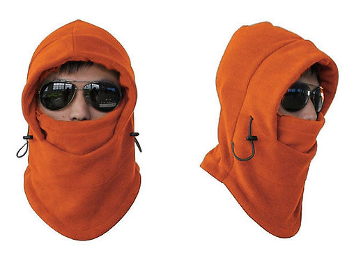Unisex Fleece Thermal Balaclava Sports Orange
