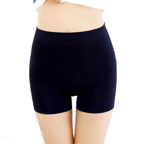 Women Seamless Plain High Waist Boxer Shorts 2628
