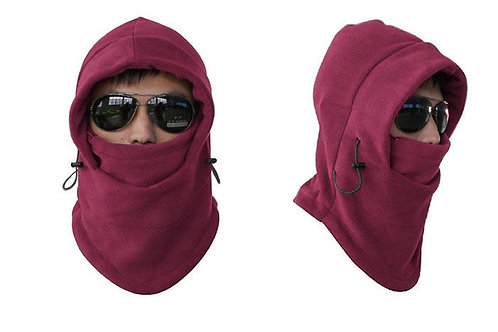 Unisex Fleece Thermal Balaclava Sports Wine Red