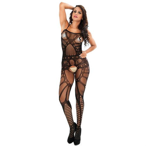 Erotic Floral Fishnet Bodystocking 4513