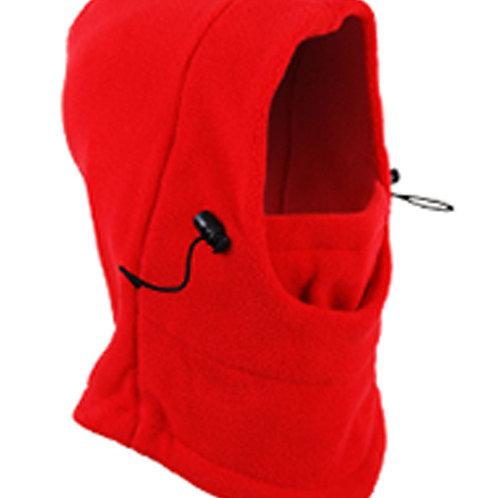Unisex Fleece Thermal Balaclava Sports Scarlet Red