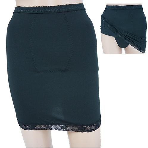 Ladies Control Shapewear Lace Trim Hem Half Slip with panty 57009