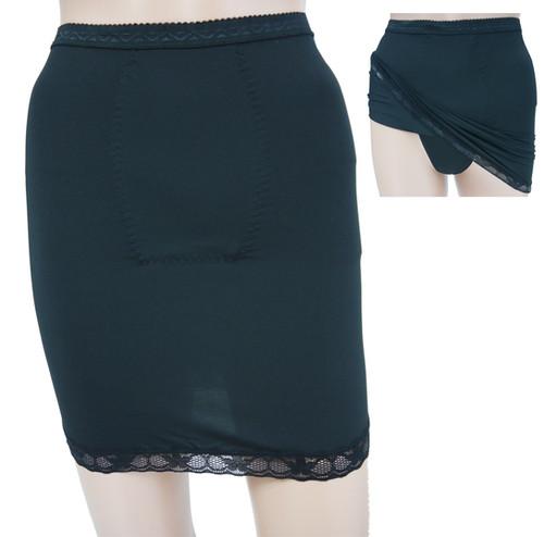 06b1a960d209 Ladies Control Shapewear Lace Trim Hem Half Slip with panty 57009