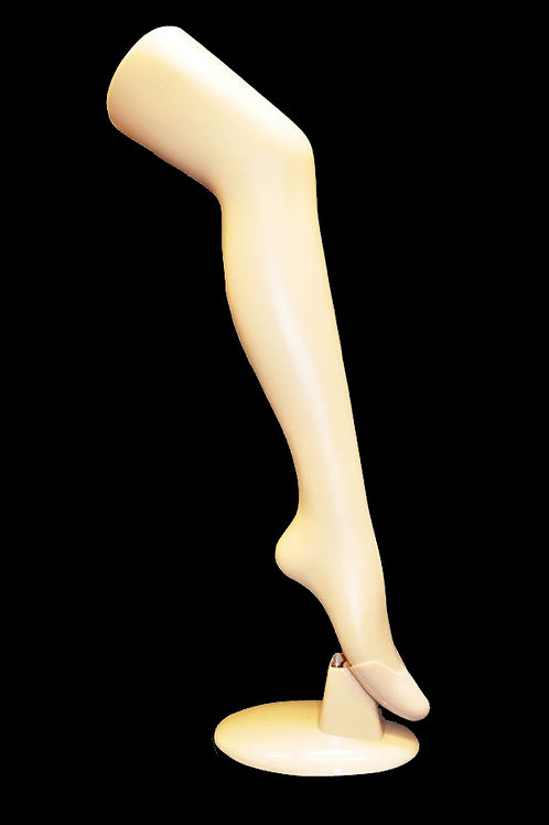 STANDING PLASTIC MANNEQUIN LEG WTH BASE STAND