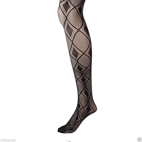 6 pack Fishnet Net footless Pattern Pantyhose Tight 2619